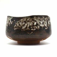 Japanese Handcrafted Haiyuhuki Brown Matcha Tea Bowl Chawan