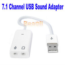 USB 2.0 Virtual 7.1 Channel Audio Sound Card Adapter 3D FOR Win7 Mac Windows7 HM