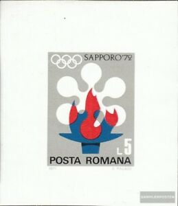 Romania Block91 (complete issue) used 1971 Olympics Winter Game