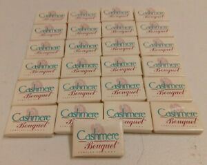 VINTAGE LOT 25 CASHMERE BOUQUET HOTEL SIZE TRAVEL SOAP BARS NEW OLD STOCK UNUSED