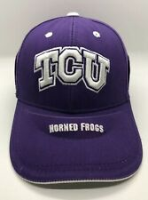 TCU Horned Frogs Cap Hat Adult Adjustable Purple 100% Cotton