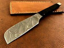 Handmade Damascus Steel Straight Razor-Japaneses Kamisori Style-Cut Throat-xd2