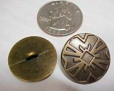 """20 Bronze Post Type Medieval Buttons, Gothic Sewing .880"""" Steampunk Old English"""
