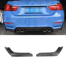 For BMW F80 M3 F82 F83 M4 15-19 Carbon Rear Diffuser Splitter Bodykit Flaps 2PCS