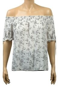 Womens PRIMARK White Off Shoulder Boxy Gypsy Top - UK Size 6 8 10 12 14 16 20