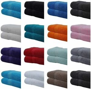 2x Premium Extra Large Super Jumbo Bath Sheets 100% Combed Cotton Luxury Towels