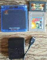 Gameboy Advance SP Refurbished Custom Clear Blue Lot with Charger