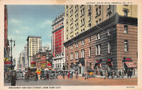 Broadway and 42nd Street, Manhattan, New York City, Early Postcard, Unused