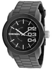 Diesel DZ1779 Double Down Grey Dial Silicone Men's Sport 44mm Watch NWT $100