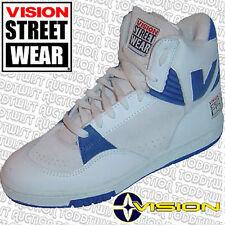 VISION STREET WEAR MS15000 Skateboard Zapatos Wh/Bl 4 UK/5 USA Original 80s