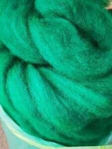 Kammzug / Kardenband Coburger Frosch,  100% Wolle 2,99€ 100g / 29,90€ kg