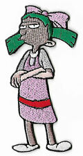 Hey Arnold! Patch Embroidered Badge Helga Pataki Punk Goth Green Hair Rockabilly