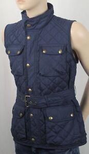 POLO Ralph Lauren Girls Navy Blue Quilted Vest Coat Jacket NWT $145