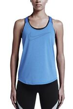 Nike Elastika Veneer Keyhole Training Tank Top Loose Sz L Large Blue 686107 435