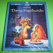 LA DAMA Y EL VAGABUNDO CLÁSICO DISNEY 15 BLU-RAY NUEVO PRECINTADO SLIPCOVER