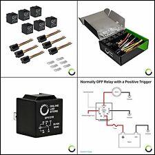 Online Led Store 6 Pack Bosch Style 5 Pin 12V Relay Kit Spdt for Auto Fan Cars