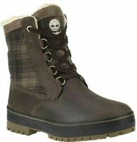 TIMBERLAND 6869B MEN'S DARK BROWN PLAID WATERPROOF INSULATED BOOTS