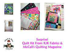 "NEW! RJR ""SURPRISE"" Quilt Kit - From RJR Fabrics & McCall's Quilting Magazine"