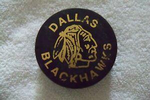 Vintage Viceroy CHL Hockey Puck - Dallas Blackhawks - Rubber Farm Team Chicago