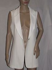 LG Lena Gabriella Ivory Sleeveless Blazer Jacket Size 8 NEW