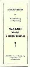 Standard Walsh Instructions for Maintaining & Operating, Reproductions