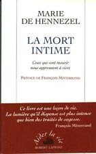 Livre la mort intime Marie De Hennezel book