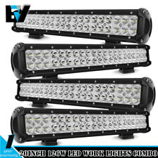 4PCS 20'' LED Work Light Bar Combo Beam SUV Offroad 4WD Driving Lamps