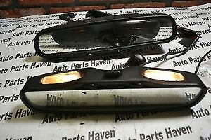"""Donnelly Inside Rear View Mirror - Dual Map Lights - 10-1/2"""" With Wiring Pigtail"""