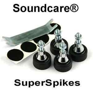 1 Set M6 SoundCare SuperSpikes Speaker /Subwoofer  Spikes.NEW