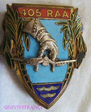 IN11965 - INSIGNE 405° R.A.A dos guilloché argenté, ailes courtes