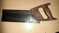"""VINTAGE-""""STANLEY""""  TENON SAW-CARPENTERS OLD HAND TOOL-"""