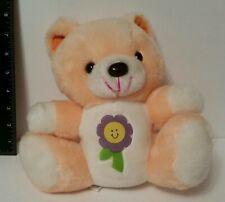 VINTAGE Plush Stuffed Animal Care BEAR Clone FLOWER Carnival Prize MTY Taiwan