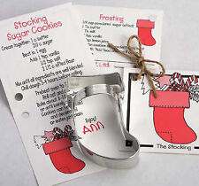 Ann Clark Tin CHRISTMAS STOCKING Cookie Cutter w/ Cookie & Frosting Recipe USA