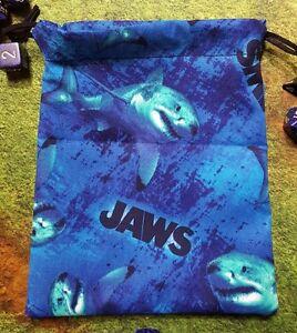 Blue Jaws Shark dice bag, card bag, makeup bag