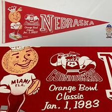 1983 Nebraska Cornhuskers Lincoln Football University Pennant 12x30 Orange Bowl