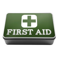 First Aid Medical supplies plasters pills Metal Storage Tin Box A007