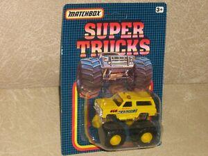 New Matchbox Super Chargers Monster Truck 4X4 Blazer Chevy Mad Dog Maddog II SC7