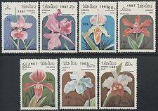 LAOS N°810/816** Fleurs, Orchidées TB, 1987 flowers Orchids 796-796F MNH