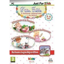JEU PC P'TITE FILLE 3 HISTOIRES INTERACTIVES + BONUS WINDOWS XP/VISTA/7/8 KIDS