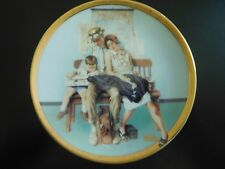 Norman Rockwell Miniature Plate - Weary Travelers - Made In Japan