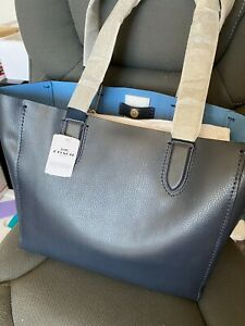 Coach Derby Tote, Midnight Lapis / Navy, New $298 Retail