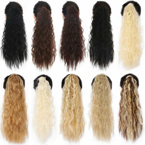Hair ponytail Clip In as Real Human Hair Extensions Wrap Around Pony Tail