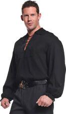 Morris Costumes Men's Pirate Long Sleeve Polyester Shirt Black 2XL. UR29299XXL