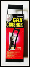 16oz Can Crusher - 4 screw holes for mounting, 16 Gauge Steel New in Box
