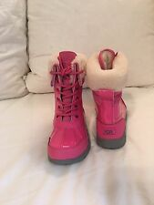 """Ugg """"Butte II"""" Boots - Girl's Patent Pink Size 2 NEW IN BOX FREE SHIPPING"""