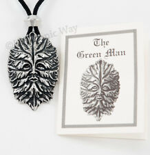 Green Man Pendant Necklace Jewelry Harmony with Nature Pewter Amulet Talisman