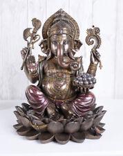 Ganesha Figur Hindu Gottheit Lotusblüte Elefantenkopf Hinduismus