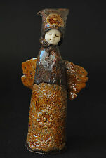 Guardian Angel, Ceramic Figurine, Unique, Handmade Angel Sculpture