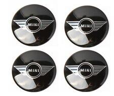 MINI Cooper Wing Centre Sticker Caps Set of FOUR Size 57mm Waterproof Hub UK