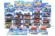 24 pc Hot Wheels Bus+Truck Die Cast Lot 1991-2004 Mattel Oshkosh+Semi-Fast NOC